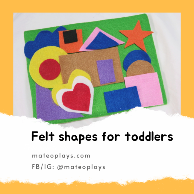 Felt shapes for toddlers | Mateo Plays 2020