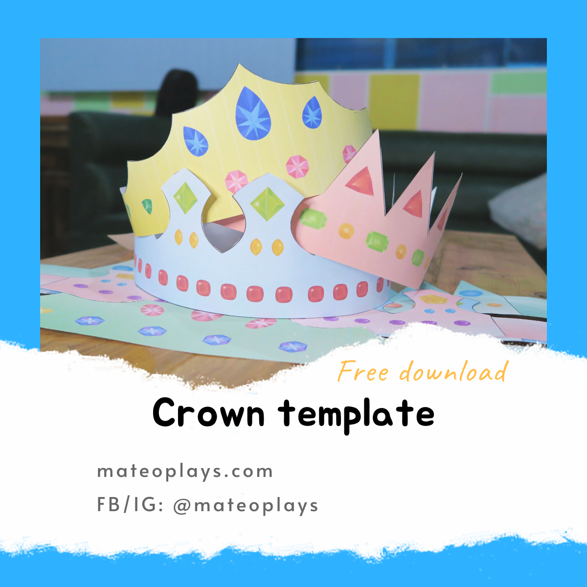 Crown template free download | Mateo Plays